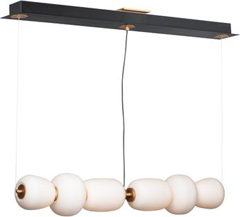 ET2 E25068-92BKGLD Soji Contemporary Black / Gold LED Island Light Fixture