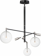 ET2 E25074-18BKSN Global Contemporary Black / Satin Nickel LED Lighting Chandelier