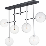 ET2 E25078-18BKSN Global Contemporary Black / Satin Nickel LED Kitchen Island Light Fixture