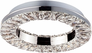 ET2 E30560-20PC Charm Modern Polished Chrome LED Flush Ceiling Light Fixture