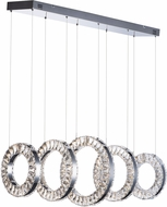 ET2 E30565-20PC Charm Modern Polished Chrome LED Multi Pendant Lamp