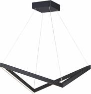 ET2 E30574-BK Stealth Contemporary Black LED Lighting Pendant