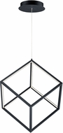 ET2 E30582-BK 4 Square Contemporary Black LED Hanging Lamp