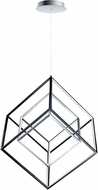 ET2 E30586-BKPC 4 Square Modern Black / Polished Chrome LED 30  Pendant Lighting Fixture