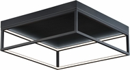 ET2 E30598-BK 4 Square Contemporary Black LED Flush Mount Ceiling Light Fixture