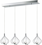 ET2 E30624-PC Tilt Modern Polished Chrome LED Multi Drop Ceiling Light Fixture