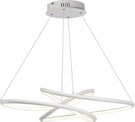 ET2 E30647-MW Twisted Contemporary Matte White LED Pendant Light Fixture