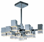 ET2 E31207-75PC Nova LED Modern Polished Chrome Finish 11  Tall Pendant Light Fixture