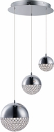 ET2 E31226-20PC Eclipse Contemporary Polished Chrome LED Multi Pendant Light Fixture