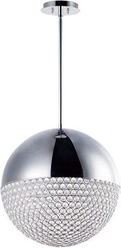 ET2 E31228-20PC Eclipse Contemporary Polished Chrome LED 20  Hanging Light Fixture