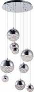 ET2 E31229-20PC Eclipse Contemporary Polished Chrome LED Multi Hanging Pendant Lighting