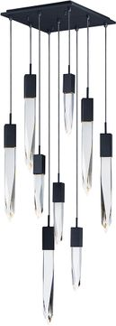 ET2 E31246-20BK Quartz Black LED Multi Hanging Lamp