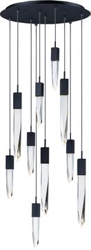 ET2 E31247-20BK Quartz Black LED Multi Pendant Light Fixture
