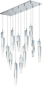 ET2 E31248-20PC Quartz Polished Chrome LED Multi Hanging Pendant Light