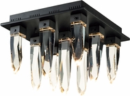 ET2 E31249-20BK Quartz Black LED Overhead Lighting Fixture