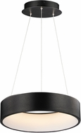 ET2 E31254-BBK IQ Contemporary Brushed Black LED 18  Drum Pendant Hanging Light