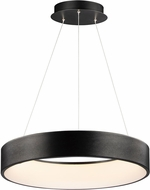 ET2 E31256-BBK IQ Modern Brushed Black LED 24  Drum Hanging Light Fixture
