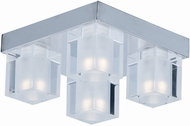 ET2 E32038-18PC Blocs Contemporary Polished Chrome LED Flush Mount Lighting Fixture
