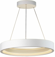 ET2 E35004-MW I-Corona Modern Matte White LED Drum Drop Lighting