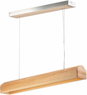 ET2 E35012-NWD I-Wood Contemporary Natural Wood LED 40  Kitchen Island Light Fixture
