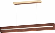ET2 E35018-APBCN iWood Modern Antique Pecan / Brushed Champagne LED Kitchen Island Light