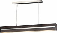 ET2 E35018-WEPC iWood Contemporary Wenge / Polished Chrome LED Island Light Fixture