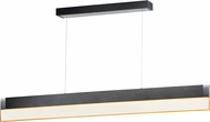 ET2 E35022-83BBK iBar Contemporary Brushed Black LED Kitchen Island Light
