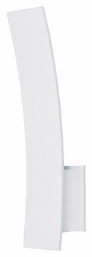 ET2 E41307-WT Modern White 4.25  Wide Wall Sconce