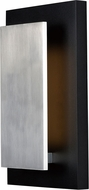 ET2 E41335-BKSA Alumilux Contemporary Black / Satin Aluminum LED Exterior Light Sconce