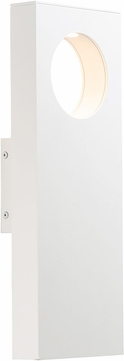 ET2 E41368-WT Alumilux Contemporary White LED Outdoor Wall Lighting Fixture