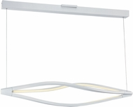 ET2 E41390-11MW Cyclone Contemporary Matte White LED Kitchen Island Light