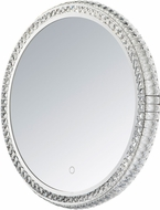 ET2 E42002-20 Crystal Mirror Contemporary Polished Chrome LED Round Mirror