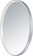 ET2 E42012-90AL Mirror Modern Brushed Aluminum LED Oval Mirror