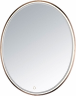 ET2 E42012-90BRZ Mirror Contemporary Anodized Bronze LED Oval Mirror