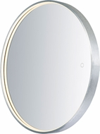 ET2 E42016-90AL Mirror Modern Brushed Aluminum LED Round Mirror