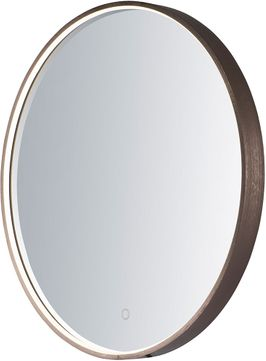 ET2 E42016-90BRZ Mirror Contemporary Anodized Bronze LED Round Mirror