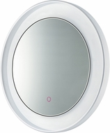 ET2 E42032-PCWT Floating Contemporary Polished Chrome and White LED Vanity Light Mirror