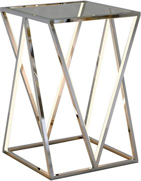 ET2 E71000-PC Victory Table Contemporary Polished Chrome LED Accent Table