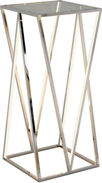 ET2 E71003-PC Victory Table Contemporary Polished Chrome LED Accent Table