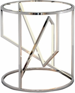 ET2 E71005-PC Trapezoid Modern Polished Chrome LED End Table