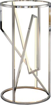 ET2 E71006-PC Trapezoid Contemporary Polished Chrome LED Accent Table