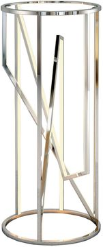 ET2 E71007-PC Trapezoid Modern Polished Chrome LED Accent Table