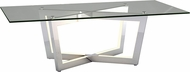 ET2 E71019-PC Carlo Modern Polished Chrome LED Coffee Table