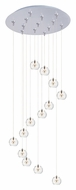 ET2 E93872-24SN Starburst Xenon 13 Lamp Clear Glass Modern Multi Ceiling Light Pendant