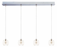 ET2 E94972-24 Starburst 4 Light Clear Glass Modern Multi Drop Ceiling Lighting