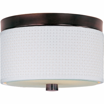 ET2 E95000 Elements Small Round 10  Ringed Flush Mount Contemporary Ceiling Light