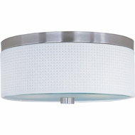 ET2 E95002 Elements Medium Modern Round 14  Ringed Flush Mount Ceiling Light Fixture