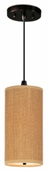 ET2 E95130-101OI Elements Cord Hanging Oil Rubbed Bronze 13 Inch Tall Grass Cloth Lighting Pendant
