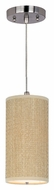 ET2 E95130-101SN Elements Contemporary 13 Inch Tall Cord Hanging Grass Cloth Pendant Light Fixture