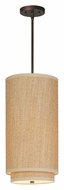ET2 E95144-101OI Elements Grass Cloth 19 Inch Tall Oil Rubbed Bronze Fluorescent Pendant Lighting With Stem